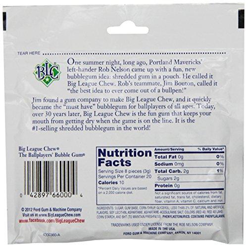 042897660004 - Big League Chew Original Bubble Gum - 2.1 oz (12 pack) carousel main 3
