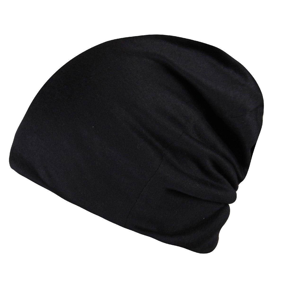 Timol Black Skull Cap Cotton Beanie for Men Women Summer Hats