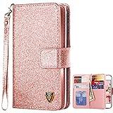 iPhone 5S Case, iPhone SE Case, BENTOBEN Sparkle iPhone 5 Wallet Case Glitter