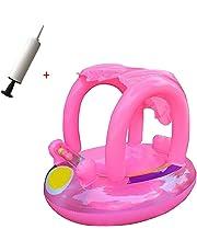 Flotador bebes-Flotador para bebé con asiento,techo del sol,barca bebé de