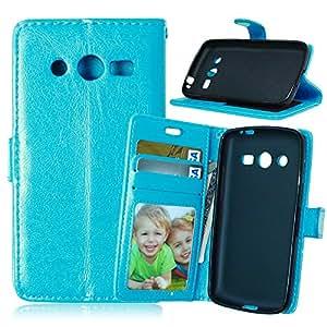 Jepson Funda Tipo libro Samsung Galaxy Avant SM-G386T Cuero Carcasa PU Leather Case Flip Piel Cover Cierra Magnético con Función Soporte y Ranuras para la Tarjeta de Débito crédito de Piel de la PU Cubierta Caso