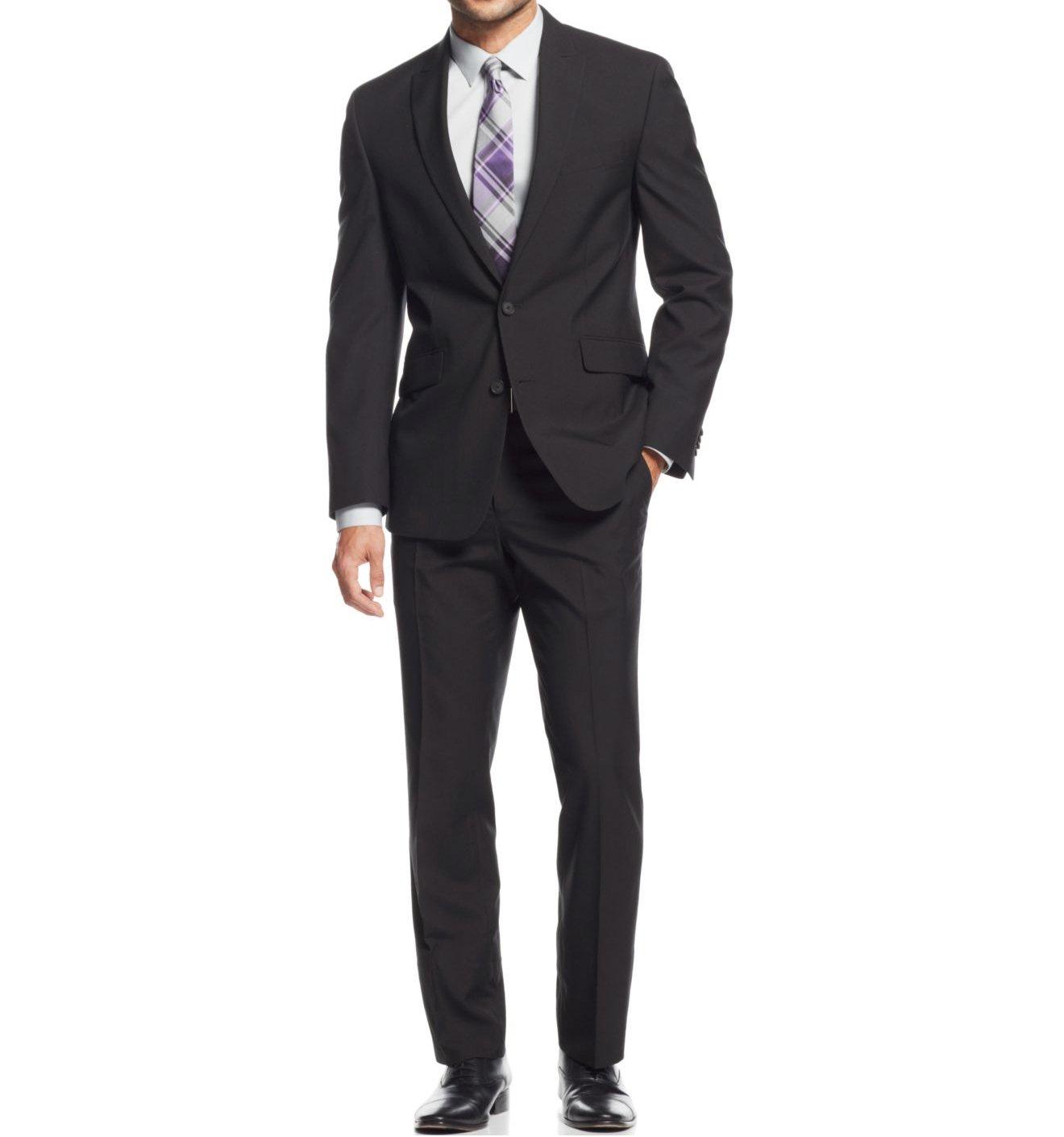 Braveman Men's Classic Fit 2-Piece Suits, Black, 52R/46W