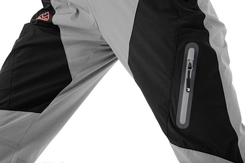 UPF 50 con bolsillos con cremallera de secado r/ápido transpirables YSENTO Pantalones de senderismo para mujer para camping trabajo resistentes al viento ligeros impermeables