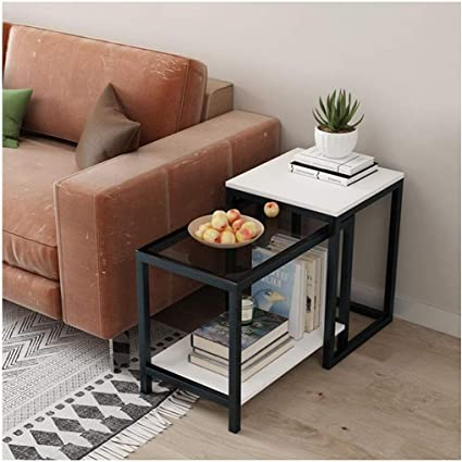 Living Room Nest Of Tables White Nesting Small Coffee Table Set Of