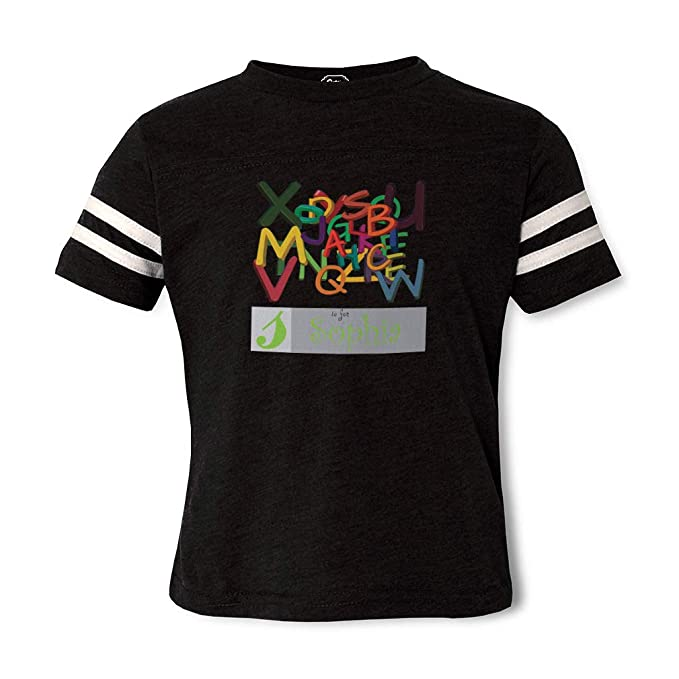 e3923241d Personalized Custom Alphabet Colorful Names Calligraphy Cotton Polyester  Contrasting Stripes Crewneck Boys-Girls Sports