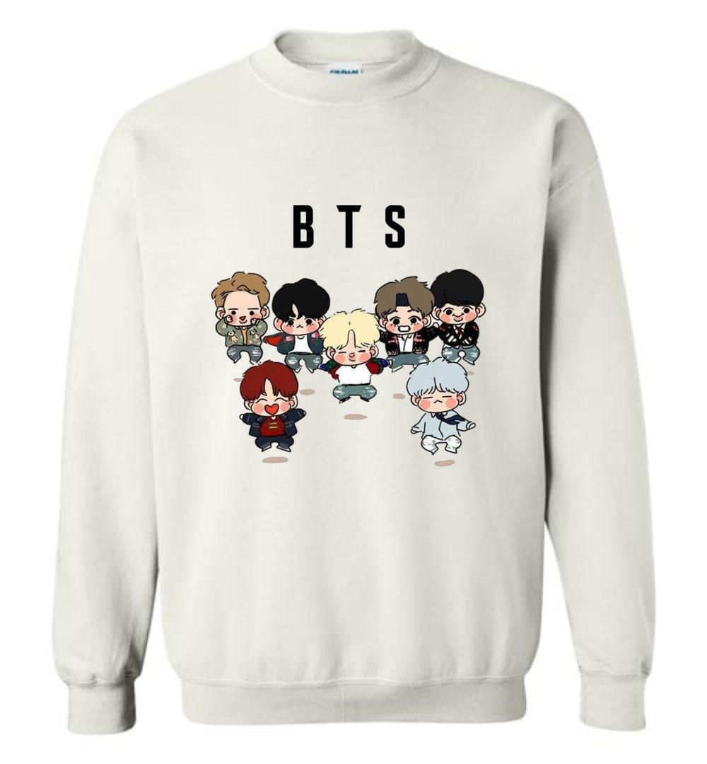 The Incredible BTS Cute Chibi DNA Hoodies Sweatshirts RM Jin Suga J-Hope Jimin V Jungkook