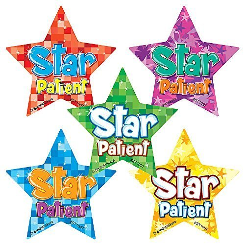 Shaped Star Patient Stickers - Prizes & Giveaways - 75 per Pack