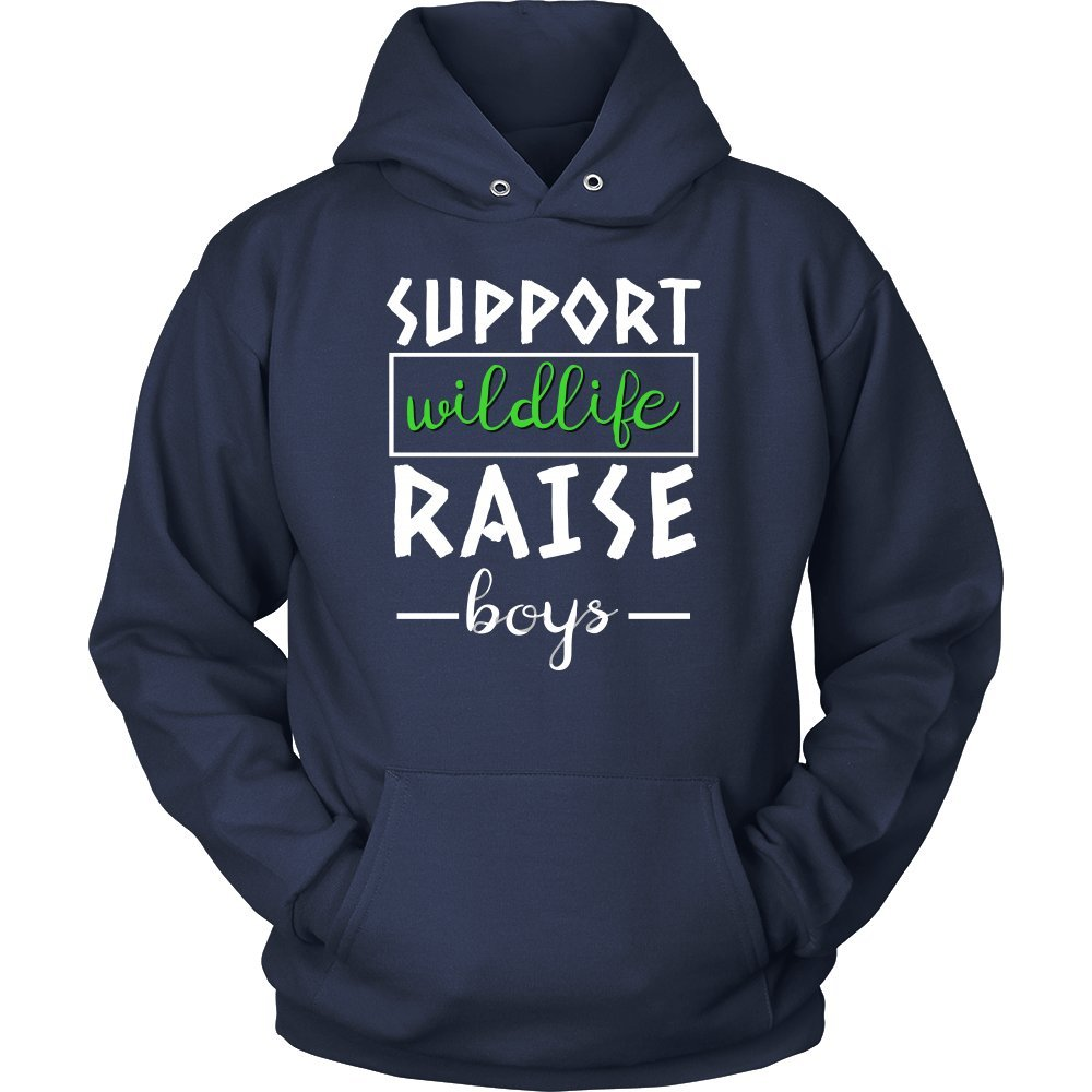 Parents,Sons,Widllife Love Hoodie Support Wildlife, Raise Boys Cool Mama, Mums and Dads Hoodie
