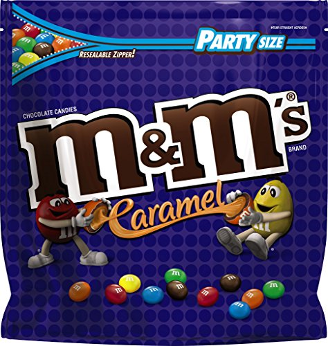 M&M's Party Size Candy Bag, Caramel Chocolate, 38 Ounce