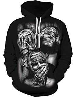 FEOYA Unisex Men Hooded Sweatshirts 3D Printed Pullover Hoodies Fashion Baseball Uniform Halloween Costume S-5XL