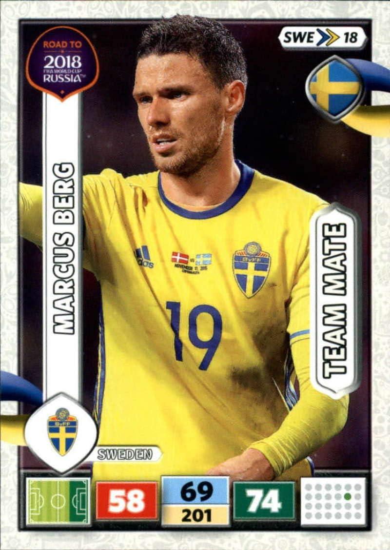 Swe18-Marcus Berg-Team mates-Panini Adrenalyn Road to World Cup 2018