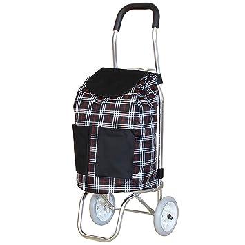 LINGZHIGAN Carrito de compras portátil Comprar verduras Carro de coche Viejo Carro tirador pequeño Carro plegable: Amazon.es: Hogar