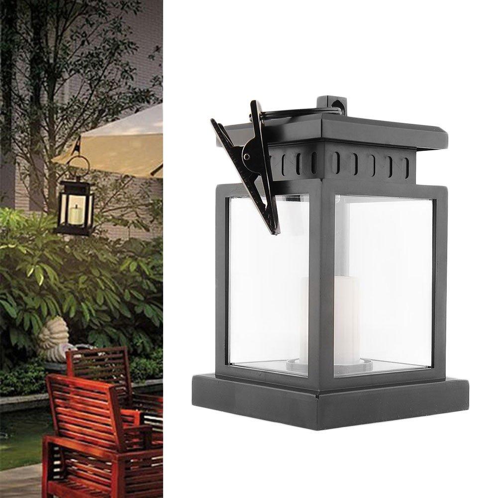Waterproof Vintage Solar Led Lantern Light with Clamp for Beach Umbrella Hanging Pavilion Garden Yard Lighting by Beisaqi (Image #3)