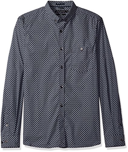 french-connection-mens-stretch-paisley-shirt-marine-blue-xl
