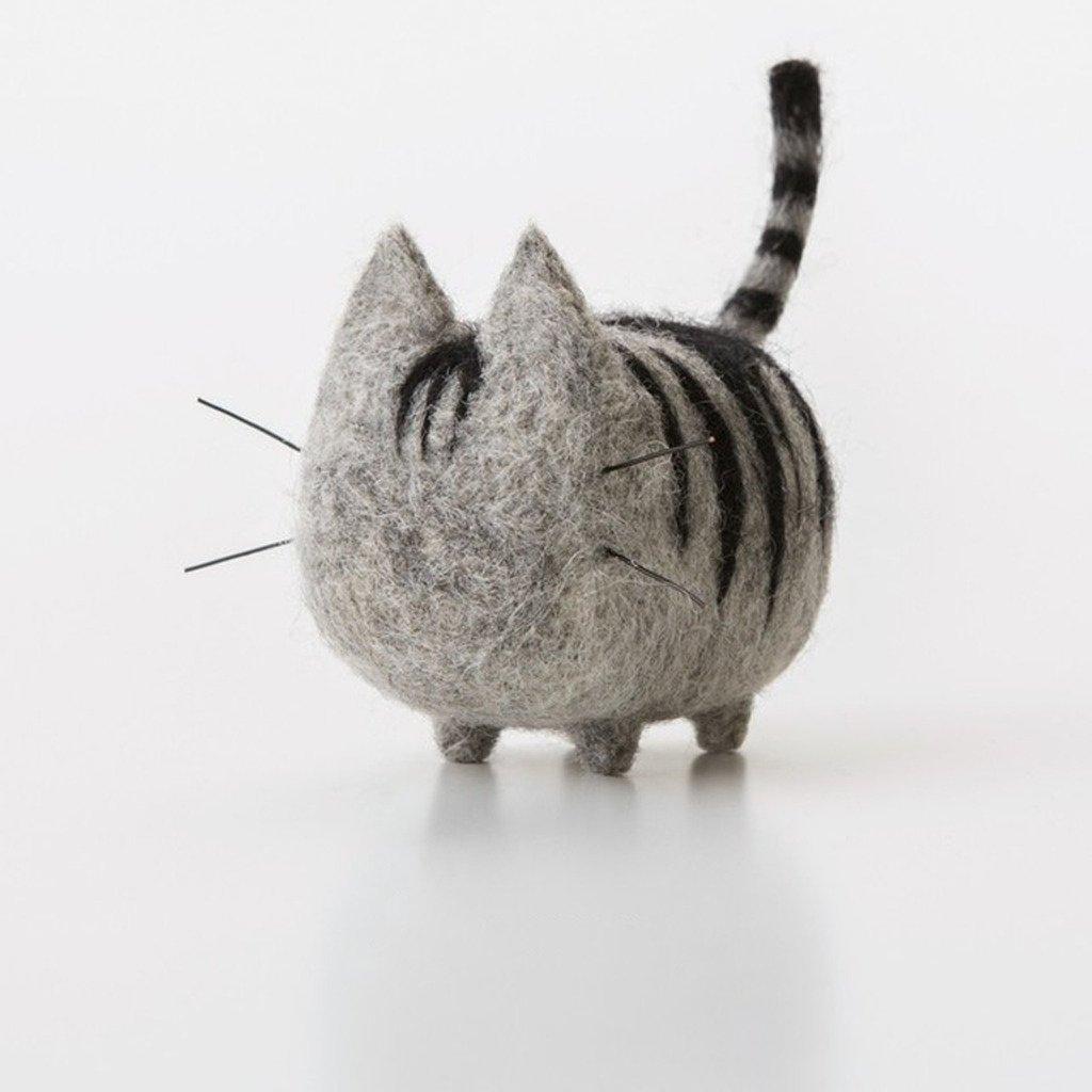 Truslin - DIY Needle Felting Kit with Gift Box Faceless Cat - Abyssinian Linge