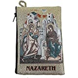 Icon Case Pouch Coin Purses Tapestry Prayer With Annunciation of Virgin Mary 5.7