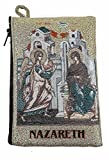 Icon Case Pouch Coin Purses Tapestry Prayer With Annunciation of Virgin Mary 5.7''