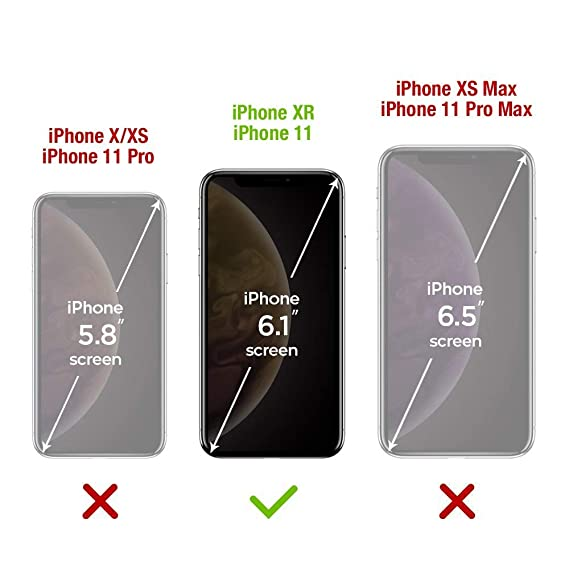 Satacnut [2-Pack] Protector Pantalla Compatible con iPhone 11/XR, Dureza de 9H,A Prueba de Arañazos,Cristal Templado iPhone 11/XR, Anti Burbujas, ...