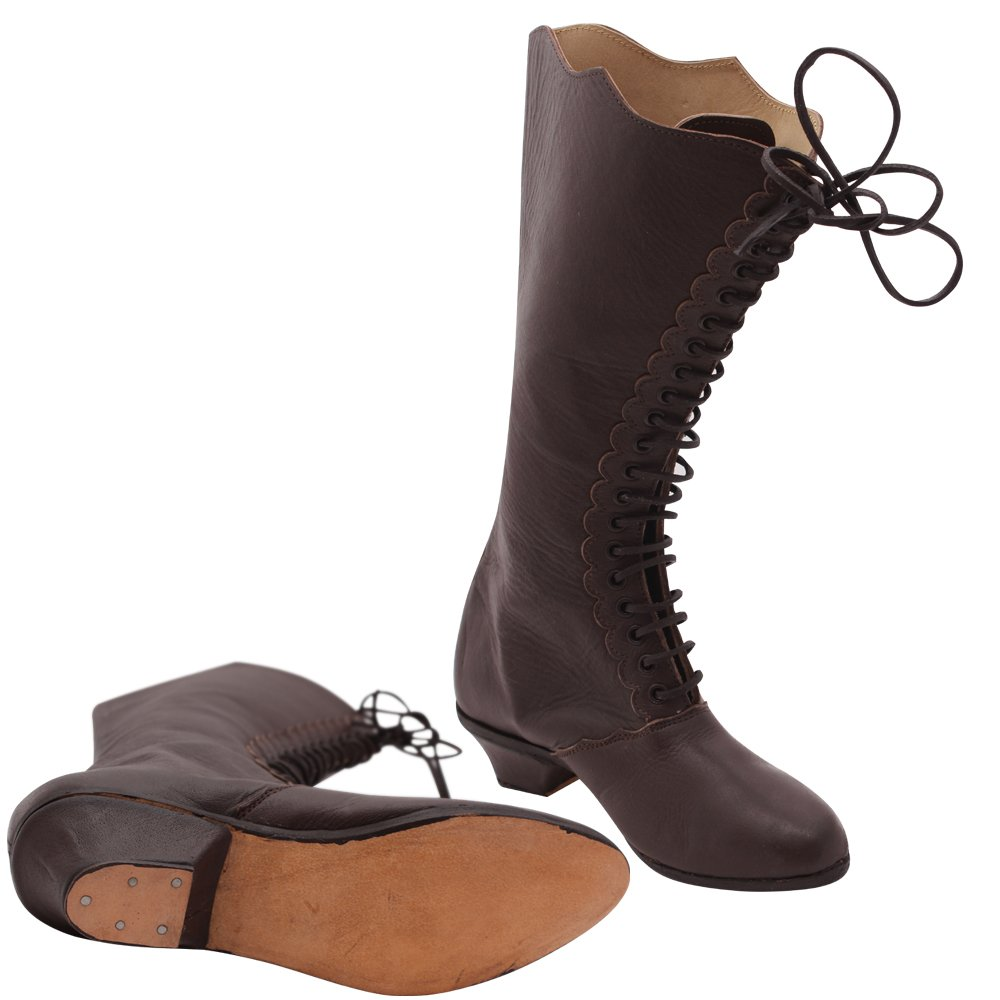 Vintage Boots, Retro Boots 10Code Womens Victorian Shoes Civil War Leather Ankle high Boots £99.99 AT vintagedancer.com