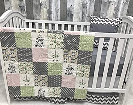 Amazon Com Baby Nursery Bedding Set Baby Unicorn Chevron