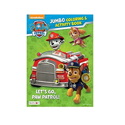 Paw Patrol Jumbo Coloring and Activity Book - Let's Go, Paw Patrol!: Toys & Games