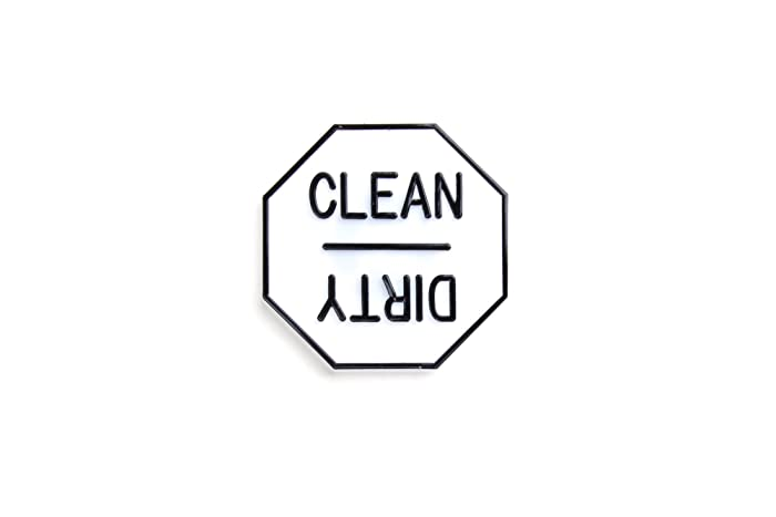 Fox Run 5935 Clean or Dirty Dishwasher Magnet, Plastic