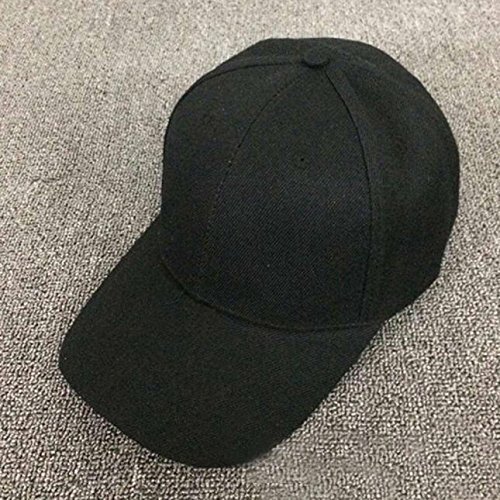 UOFOCO Baseball Cap Blank Hat Solid Color Adjustable Hat Black