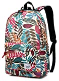 Vaschy Girls Backpacks Floral College School Book Bags Fits 15in Laptop Deal (Small Image)