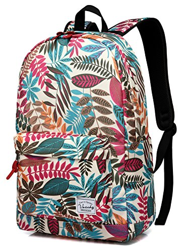 Backpack for Women,VASCHY Water Resistant High School Girls Bookbag Travel...