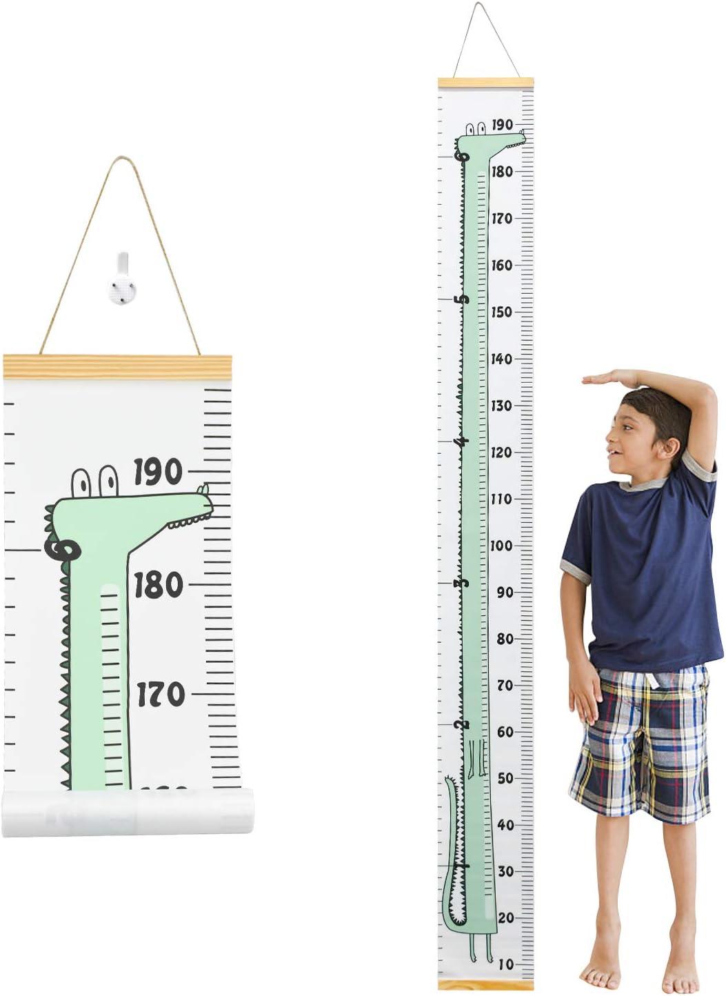 Hentek Gráficos de Crecimiento, 200 cm x 20 Medidor Altura Niños Pared, Tabla De Crecimiento Del Bebé Decoración de la Habitación Infantil