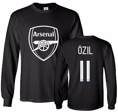 new concept 6f266 ef16e Tcamp Arsenal Shirt Mesut Ozil #11 Jersey Men's Long Sleeve T-shirt