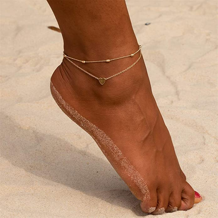 Charm Silver Matte Beads Chain Anklet Bracelet Foot Jewelry Gift for Party//Anniversary Day//Birthday Ksowam Dolphins Chain Anklet for Women Girls