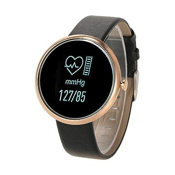 lixada BT4.0 Smart Corazón Impacto Reloj de pulsera, funcional: Tensiómetro de frecuencia