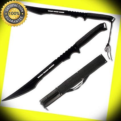 Secret Ninja Agent Night Stealth Black Full Tang Sword ...