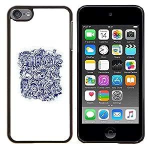 Planetar® ( Cita Aburrido Tattoo Art ) Apple iPod Touch 6 6th Touch6 Fundas Cover Cubre Hard Case Cover