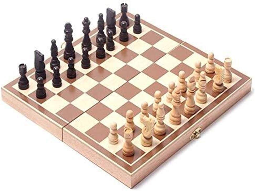 Ljlpropyh Ajedrez para Niños Juego de Piezas de ajedrez Internacional de Madera Plegable Juego de Mesa Juego de Mesa de ajedrez Juego de Mesa portátil: Amazon.es: Juguetes y juegos