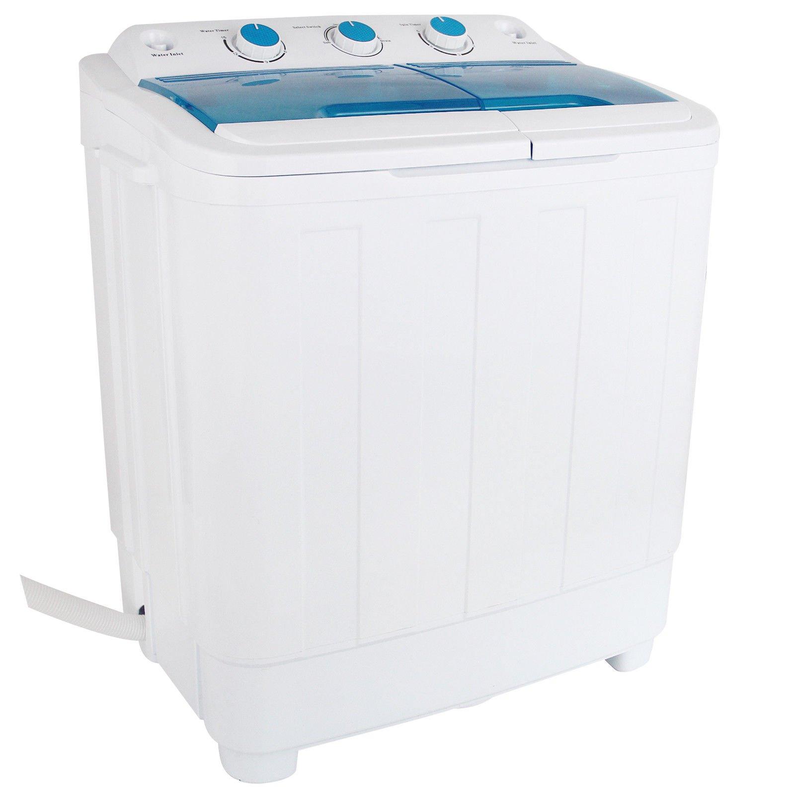 Lotus Analin 17LBS Mini Compact Portable Washing Machine Twin Tub Laundry Washer Spin Dryer