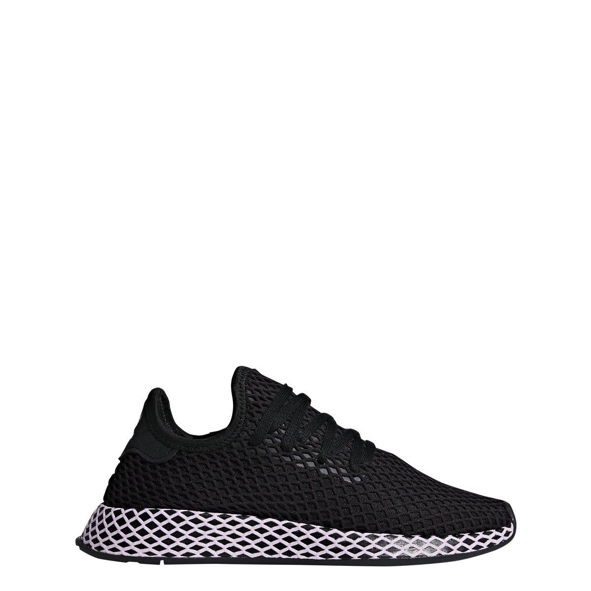 adidas Womens DEERUPT W Black/Black/Lilac - B37602 (8)