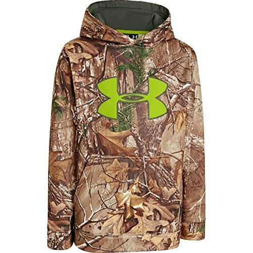 Under Armour Youth Scent Control Fleece Hoodie - Realtree Camo - Large (Camo Hoodies Under Armour)