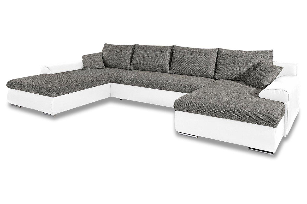 Sofa Sit&More Wohnlandschaft Loriot mit BETT - Kunstleder / webstoff ...
