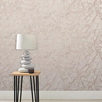 Metallic Marble Wallpaper Rose Gold Fine Decor Fd42268 Amazon Co Uk Diy Tools