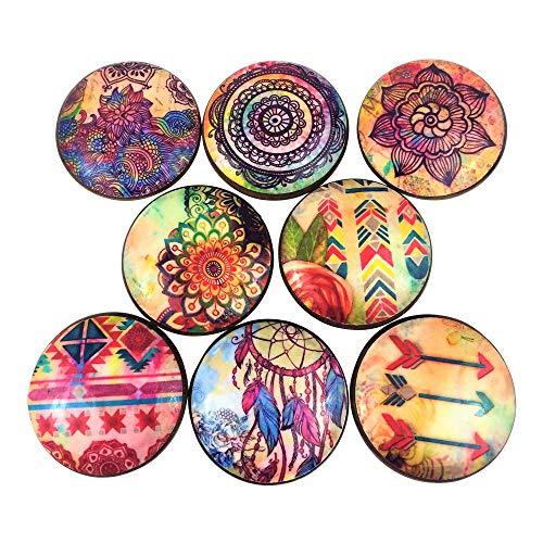 (Set of 8 Boho Gypsy Cabinet Knobs)