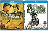 Steve McQueen The Great Escape & Battle of the Buldge Blu Ray War Collection Movie Action Bundle Set