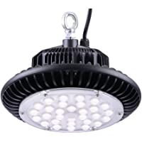 DELight 100W UFO High Bay LED Lights Lamp Warehouse Industrial Lighting 12000lm Commercial Factory Workshop Cool White