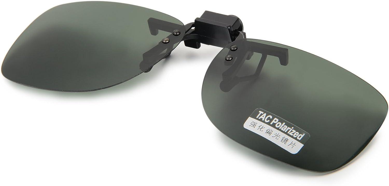 Aroncent Gafa de Sol Polarizada con Clip de Metal Lente Irrompible contra UV400 para Carreras, Conducción, Golf, y Mucho Más Deportes Exteriores