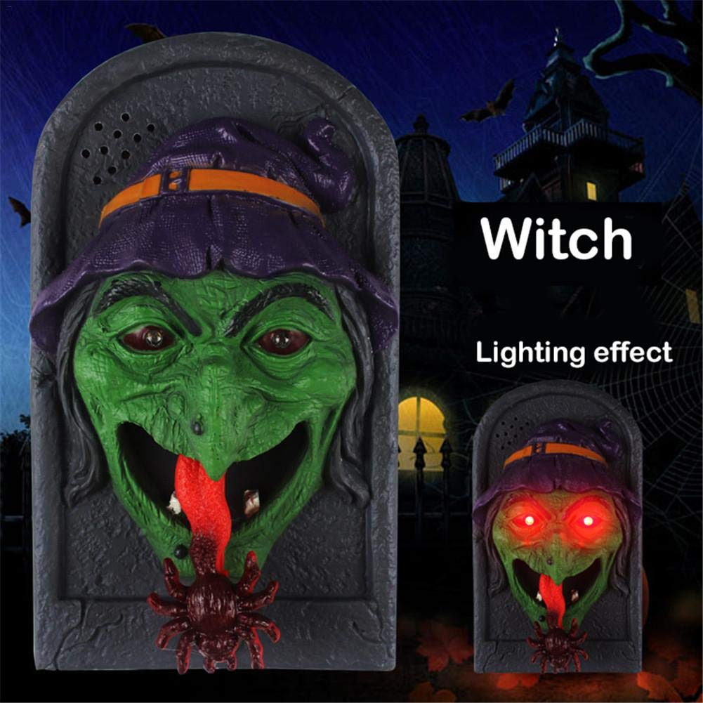 Halloween Decorative LED Light Doorbell with Spooky Sounds House Trick Prop Lamp Haunted by oshide (Image #2)