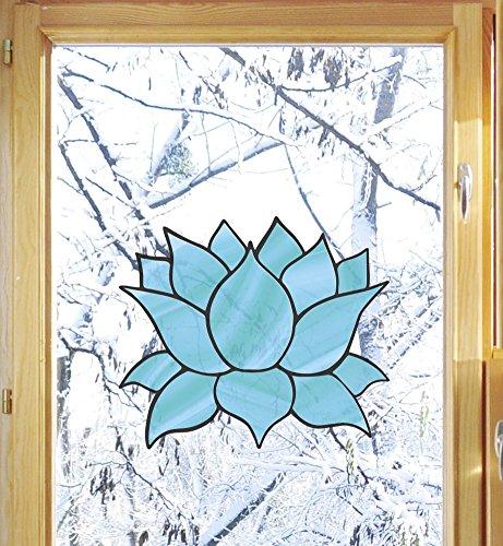 otus Flower - D4 - See-Through Vinyl Window Decal - Copyright Yadda-Yadda Design Co. (MED 5