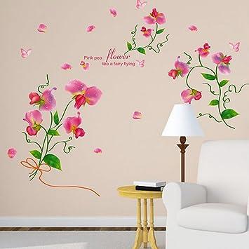 Ingles Carta Flores Mariposas Pared Adhesivo Pvc Murales Vinilo Casa
