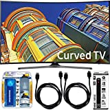 Samsung UN65KU6500 - Curved 65-Inch 4K Ultra HD LED Smart TV Essential Accessory Bundle includes TV, Screen Cleaning Kit, 6 Outlet Power Strip with Dual USB Ports and 2 HDMI Cables