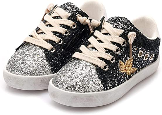 LanXi Girls Bling Sequins Sneakers